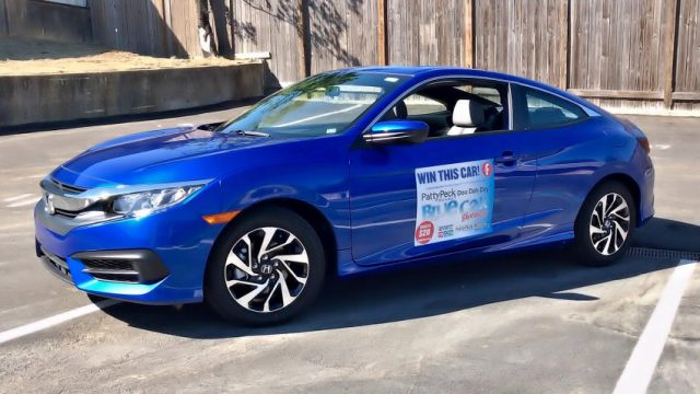 Blue Car Giveaway Drawing is May 4