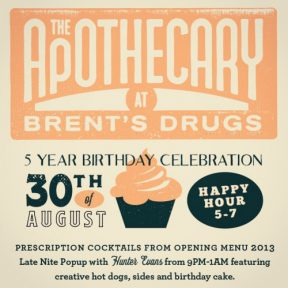 Astonishing The Apothecary Celebrating Five Years Find It In Fondren Funny Birthday Cards Online Alyptdamsfinfo